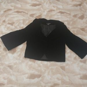 Willi Smith Black Velvet Jacket - Size Large